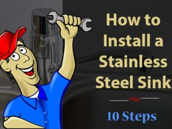 How to install a stainless steel sink