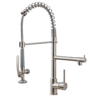Fapully 100550N commercial pull down kitchen sink faucet