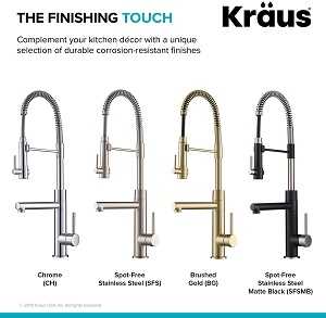 kraus KPF-1603SFSMB New Artec Pro 2-Function Kitchen Faucet