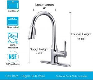 ANZA Touchless Wave Sensor Kitchen Faucets