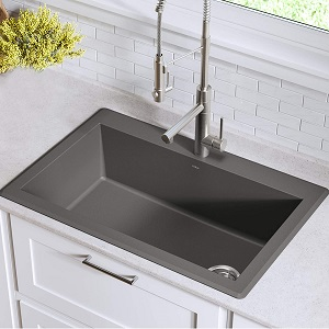 Kraus KGD-54GREY Forteza Granite Kitchen Sinks