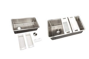 "Zuhne 32"" Reversible Undermount Drain Kitchen Sink"